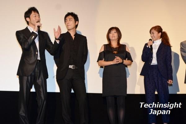 トークにも熱が入る左から浪岡一喜、趙たみ和、小川菜摘、安田美沙子