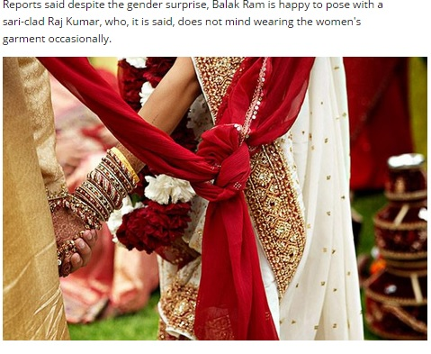 【海外発!Breaking News】新婚旅行で発覚。29歳の美人花嫁、実は15歳の少年だった。(印)