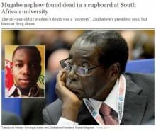 【海外発!Breaking News】大学構内にて遺体で発見された男子学生、ジンバブエ大統領の甥だった。(南ア)