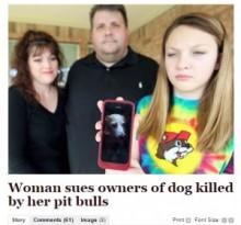 【海外発!Breaking News】ビーグル犬を隣家のピットブルに殺されるも、その飼い主に訴えられた!(米)