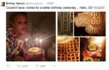 【イタすぎるセレブ達】ブリトニー・スピアーズ、33歳誕生日は新恋人デザインのケーキでお祝い!