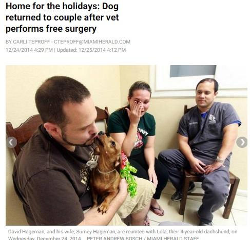 【海外発!Breaking News】獣医の善意と使命感に大きな拍手。ある夫婦に最高のクリスマスプレゼント。(米)