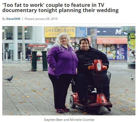 【海外発!Breaking News】肥満大国のイギリス、「太って体を壊したから働けない」に次々と障害者生活手当。