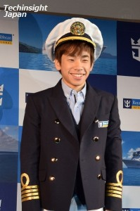 アンバサダー任命式で船長スタイルに変身した、織田信成