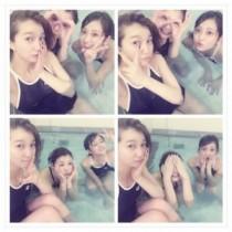 【エンタがビタミン♪】芹那、菊地亜美らがスクール水着ですっぴんに。シンクロの練習で疲労困憊。