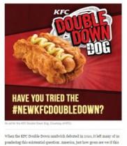 """【海外発!Breaking News】フィリピンKFCの超こってりメニュー""""ダブル・ダウン・ドッグ""""、米英も反応。"""
