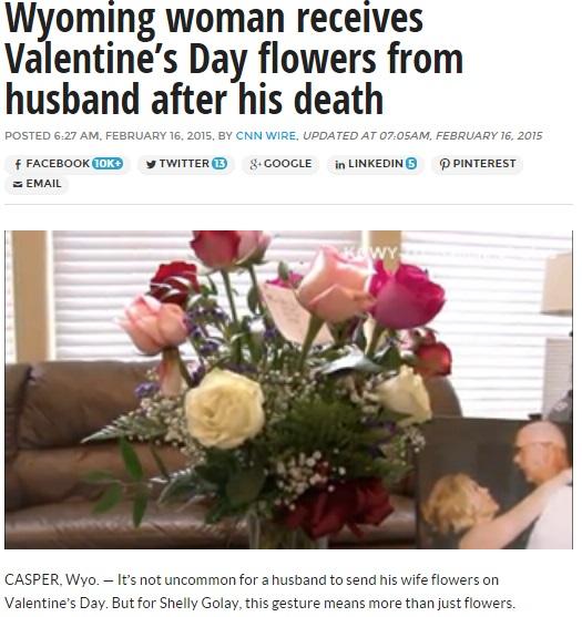 【海外発!Breaking News】夫婦愛に感動。バレンタインデーに天国の夫から贈り物が届いた妻。(米)