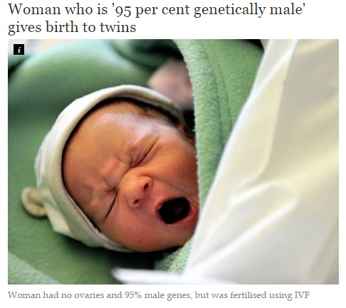 【海外発!Breaking News】染色体上は95%男性と診断された妻、3年のホルモン治療で双子を出産!(印)