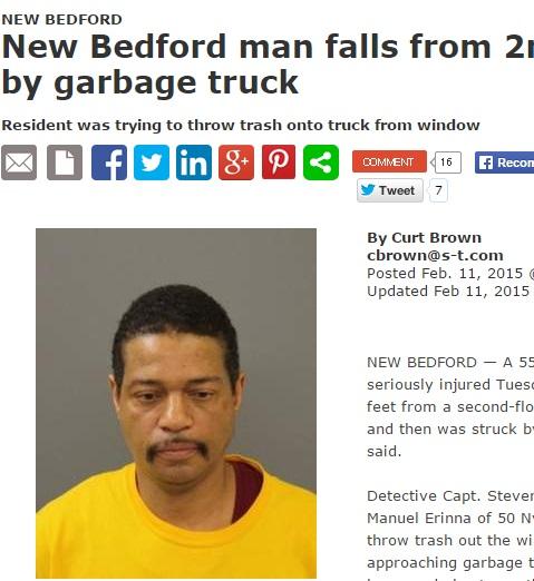 【海外発!Breaking News】猫をバットで殴った報い? 男が窓から転落し、ゴミ収集車にひかれる。(米)