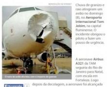 """【海外発!Breaking News】機内乗客が体験した""""恐怖の45分間""""。乱気流中のフライトで、雷とひょうが直撃。(ブラジル)"""