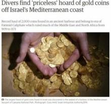 【海外発!Breaking News】2000枚の金貨が海底に。1000年の時を経て、ダイバーが発見。(イスラエル)