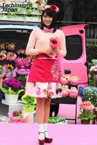 マイメロディ風衣装がとても似合っている、広瀬アリス