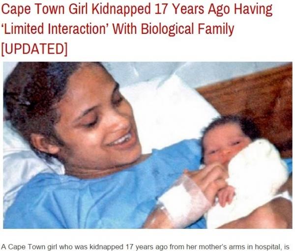 【海外発!Breaking News】病院で誘拐された赤ちゃん、17年後に高校で妹と奇跡の出会い。(南ア)