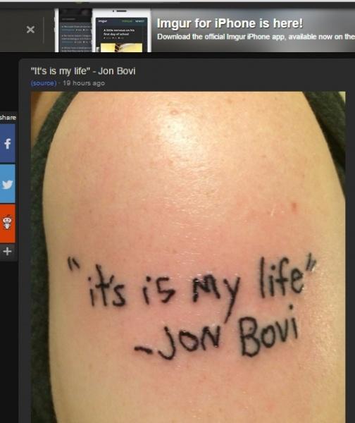 【海外発!Breaking News】ボン・ジョヴィの大ファン、残念すぎるタトゥーに人々が爆笑!