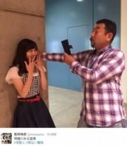 """【エンタがビタミン♪】SKE48・須田亜香里、劇場支配人から""""壁ドン""""される。松井玲奈が証拠写真を投稿。"""