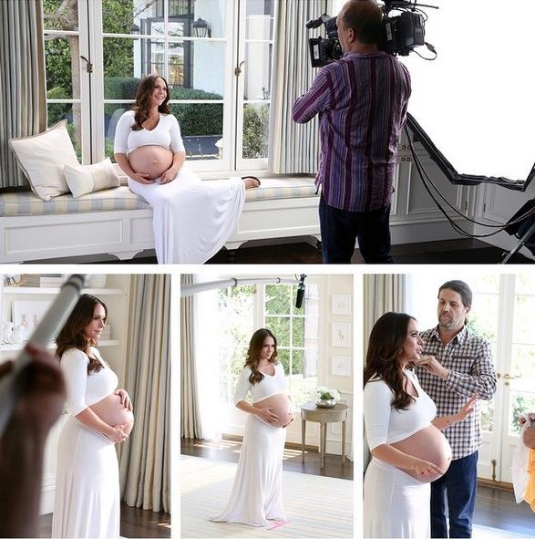 【イタすぎるセレブ達】ジェニファー・ラブ・ヒューイットが9か月のお腹を披露。妊娠線予防の秘訣も語る。