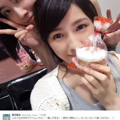 """【エンタがビタミン♪】AKB48・渡辺麻友は""""ポムポムプリン""""に投票。「中間発表3位おめでとう!」と共に1位を目指す。"""