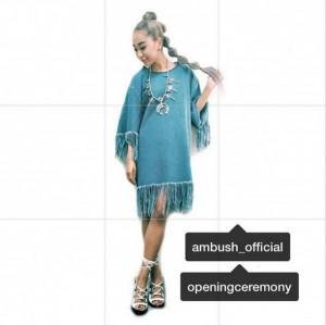 21日の『水曜歌謡祭』での青山テルマの衣装(画像は『青山テルマ Instagram』より)
