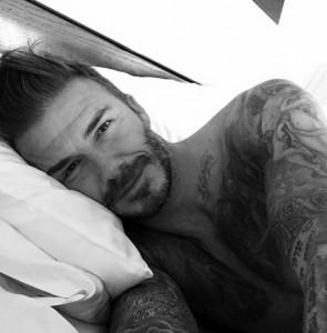 """【イタすぎるセレブ達】デヴィッド・ベッカム40歳に! インスタグラムで""""寝起き写真""""を公開。"""