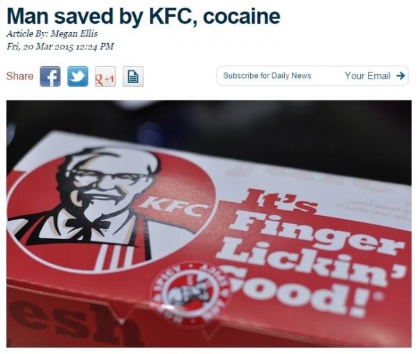 【海外発!Breaking News】誘拐された男性、KFCとコカインのおかげで命拾い(南ア)