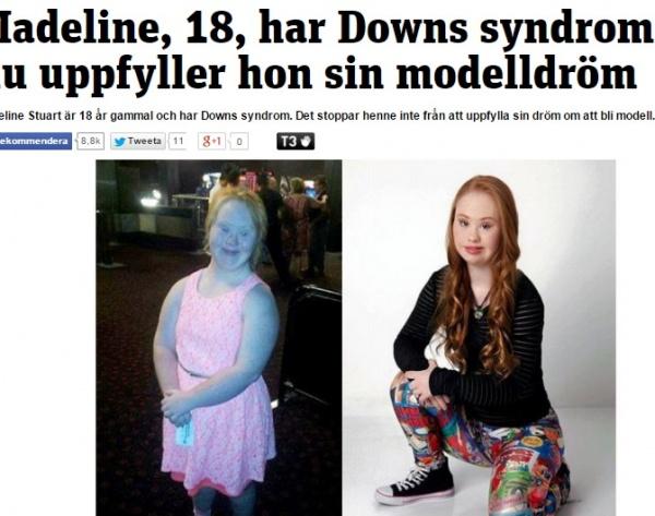 【海外発!Breaking News】「モデルになりたい!」ダウン症18歳女性が大変身。可愛いと評判に。(豪)
