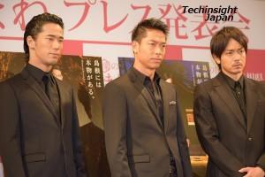 ポスターと同じ凛々しい表情をする、小林直己、AKIRA、青柳翔