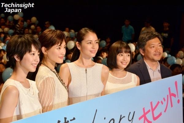 本日公開、映画『海街diary』 夏帆、綾瀬はるか、長澤まさみ、広瀬すず、是枝裕和監督