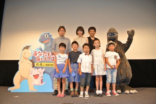 「恐竜鳴き声コンテスト」で鳴き声を披露した子どもたち