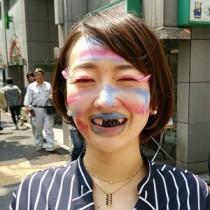 """【エンタがビタミン♪】狩野恵里アナが""""レディー・ガガ""""風メイクに挑戦。「待ち受けにしたい」と反響。"""