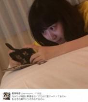 """【エンタがビタミン♪】SKE48・高柳明音『選抜総選挙』前夜に""""音ゲー""""しながら眠り込む。選抜入りに挑む緊張からか。"""