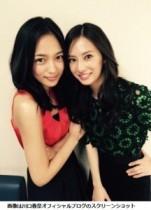 """【エンタがビタミン♪】北川景子と川口春奈のツーショットがまるで""""美人姉妹""""。息の合ったコンビぶりに期待。"""