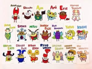 Ayaが描いたE-girlsメンバーのキャラクターが可愛いと評判(画像は『Aya aya_dream04 Instagram』より)