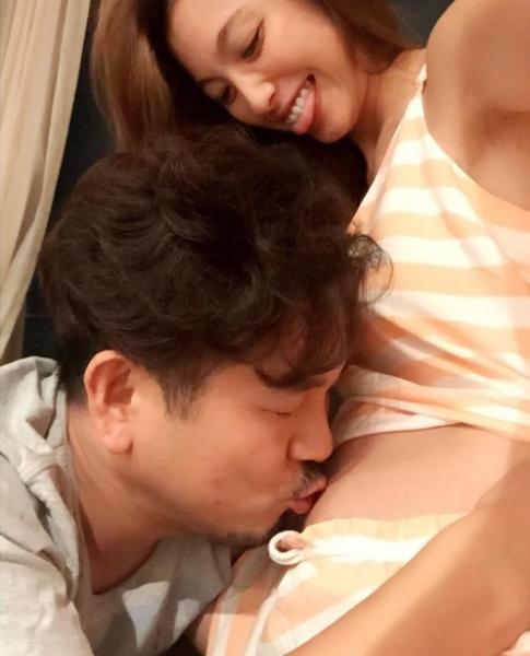第二子誕生を心待ちにするフジモン&ユッキーナ(画像は『木下優樹菜 Instagram』より)