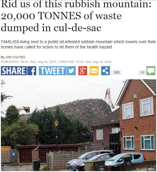 【海外発!Breaking News】リサイクル企業がドロン。2万トンのゴミ放置で近隣住民はぜん息や嘔吐(英)
