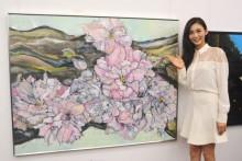 【エンタがビタミン♪】押切もえ、絵画「咲くヨウニ1」で二科展初入選。今の恋は「七分咲き」
