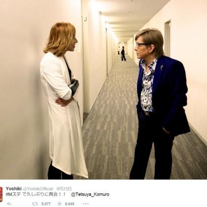 【エンタがビタミン♪】YOSHIKIが小室哲哉と再会。V2のショットに「何を話してるの?」と興味津々。
