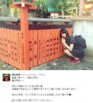 """【エンタがビタミン♪】AKB48・横山由依が""""芸能神社""""を参拝。冠番組が決まったことも。"""
