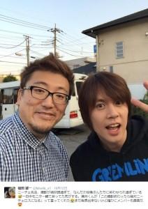 福田監督と浦井健治(画像は『福田雄一 ツイッター』のスクリーンショット)