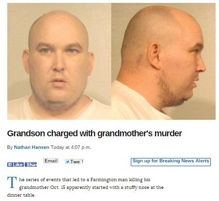 【海外発!Breaking News】神経質な孫、「食事中に鼻をかんだ」と祖母を撲殺(米)