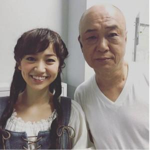 大島優子と田山涼成(画像は『大島優子 Instagram』より)