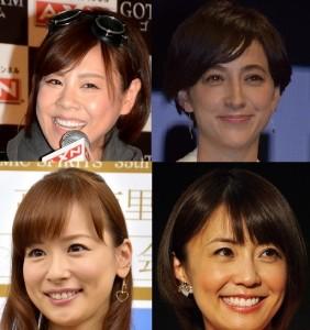 好きな女子アナTOP10入り(高橋真麻、滝川クリステル、皆藤愛子、小林麻耶)