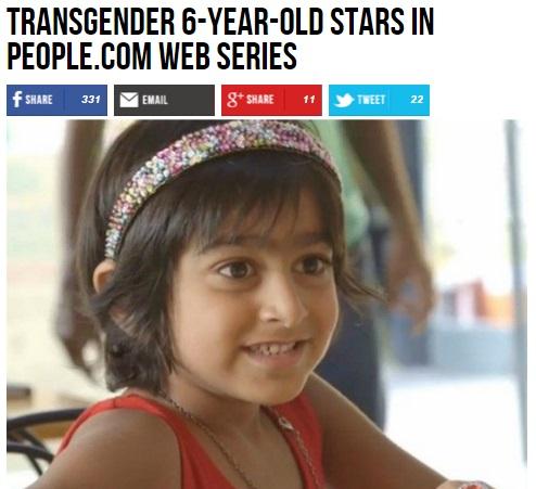 【海外発!Breaking News】幼児の性同一性障害カミングアウトが続々。6歳デヴィーナちゃんに全米注目!