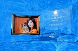 『ONE LOVEアワード・オブ・ザ・イヤー』特別賞を受賞した故・川島なお美さんに盾が贈られた。