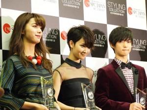 『ベスト スタイリング アワード 2015』を受賞した池田エライザ、剛力彩芽、千葉雄大。