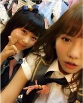 【エンタがビタミン♪】AKB48・高城亜樹(24)が達家真姫宝(14)と2ショット。肌の質は負けてない!?