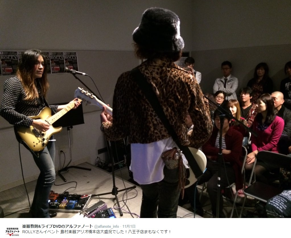 """【エンタがビタミン♪】ROLLYのギターセミナーが""""目からウロコ""""と評判に。"""