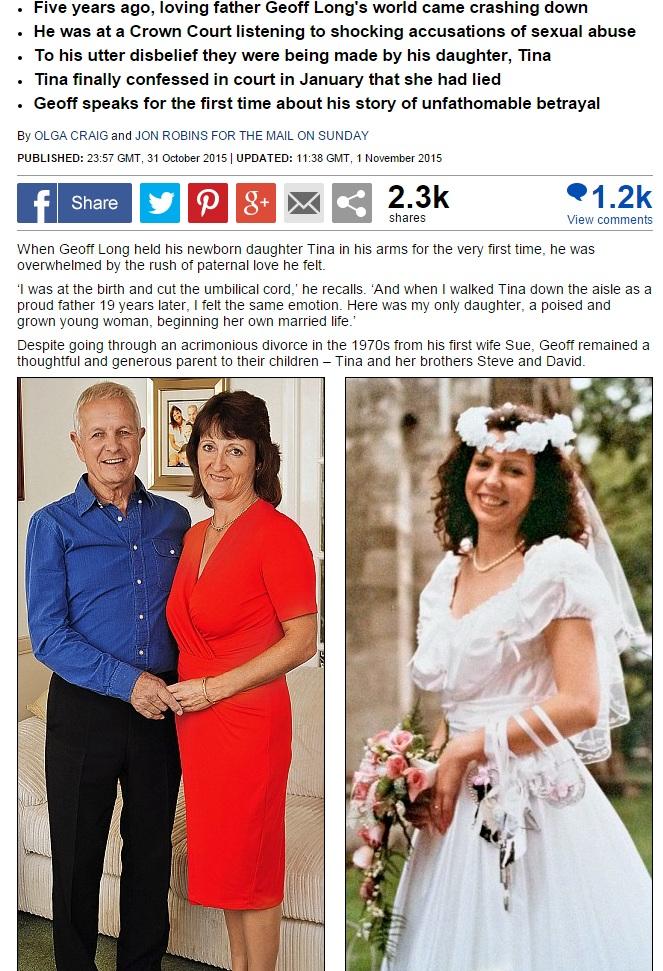 【海外発!Breaking News】「性的虐待を受けた」娘の虚偽の申し立てで5年間服役した父親(英)