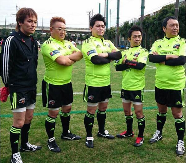 【エンタがビタミン♪】中川家やサンドがラグビーに挑戦。ユニフォーム姿が凛々しい。