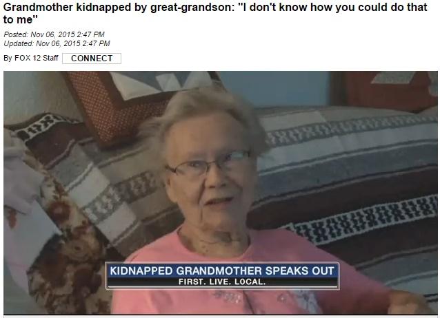 【海外発!Breaking News】呆れた少年少女、86歳曽祖母を車のトランクへ。6時間連れ回す(米)