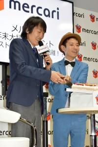タケトとケーキ入刀!! 千原ジュニアの結婚を祝って
